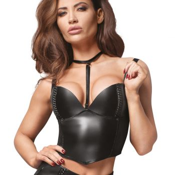Faux Leather Crop Top F170