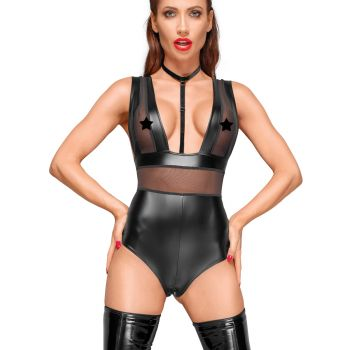 Power Wet Look Body F183 with Mesh Inserts