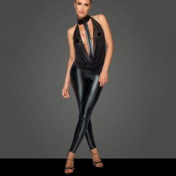 Sleeveless Power Wet Look Catsuit F223*