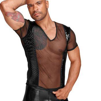 Mesh T-Shirt H055 - Black
