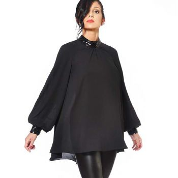 Transparent Blouse EMILIA - Black*