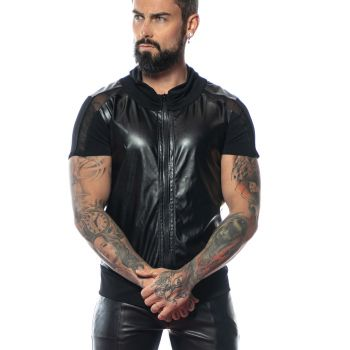 Faux Leather Shirt MAE - Black