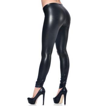VERA Faux Leather Leggings - Black