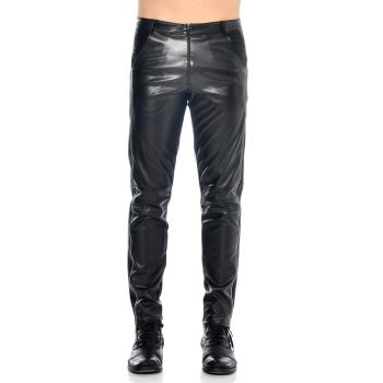 Faux Leather Pants with side zipper