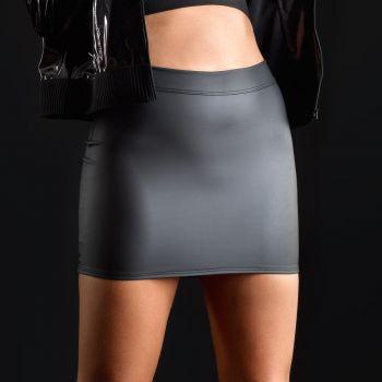 Neoprene Mini Skirt - Black