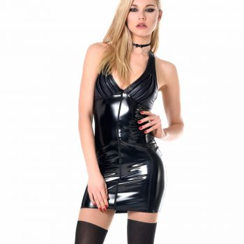 Vinyl Halterneck Dress FANNY