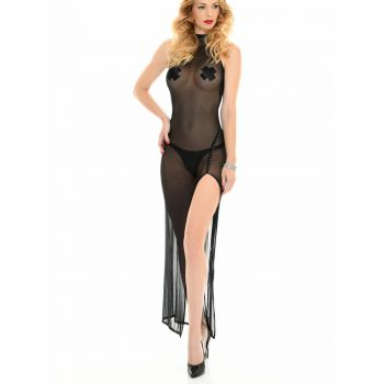 Backless Mesh Dress POUSSYCAT - Black