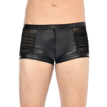 Wet Look Boxer Shorts THEON - Black