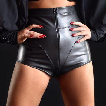 Faux Leather Shorts  JENNA - Black