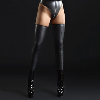 Faux Leather / Net Stockings SICILIA