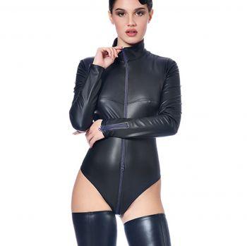Longsleeve Wet Look Body - Black