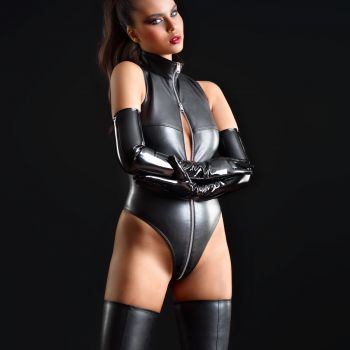 Faux Leather Body SIXTINE - Black