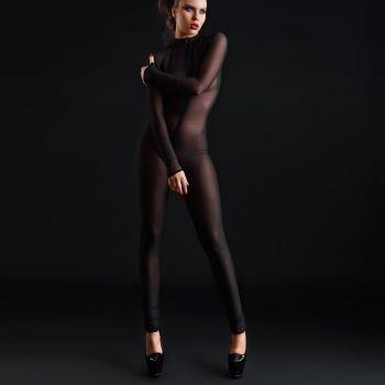 Longsleeve Mesh Catsuit - Black