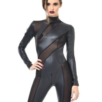 ZIA Wetlook Catsuit - Black