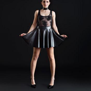 Faux Leather Mini Skirt KAT - Black
