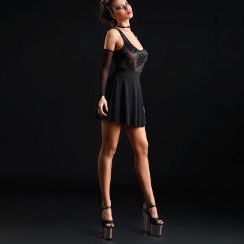 Sleeveless Stretch Mini Dress KAT - Black