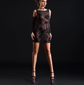 Mesh Mini Dress PATSY - Black