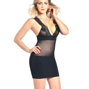 Straps Mini Dress JACYNTHE - Black