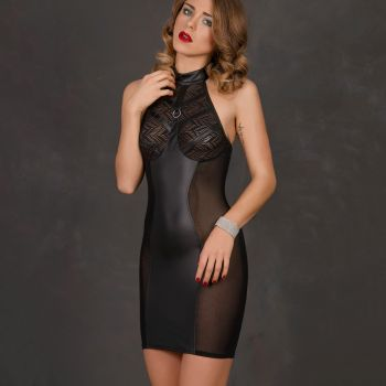 Halterneck Dress AUBREE - Black*