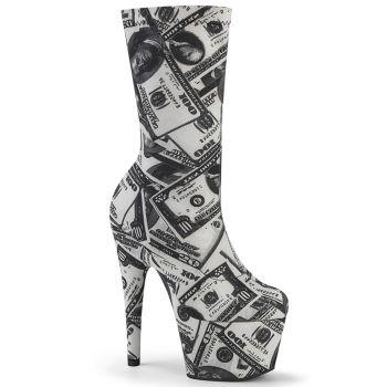 Platform Sock Boots ADORE-1002DP - Dollar Print