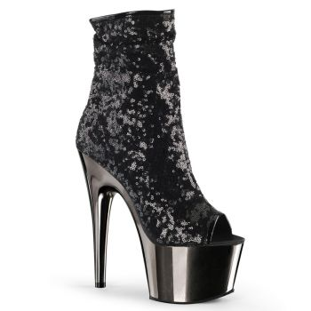 Sequin Ankle Boots ADORE-1008SQ - Black