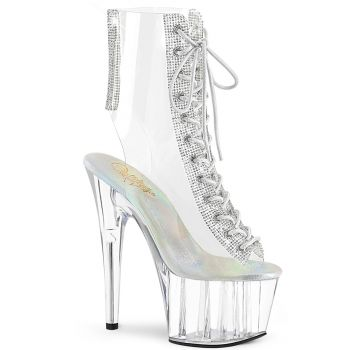 Peeptoe Platform Ankle Boot ADORE-1016C-2 - Clear