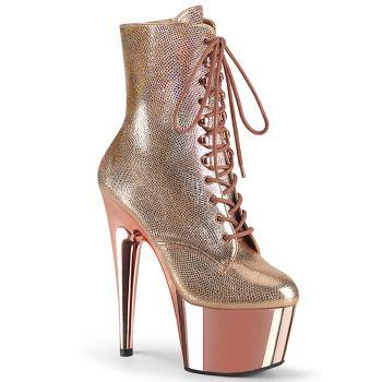 Platform Boots ADORE-1020 - Rose Gold / Metallic Texture