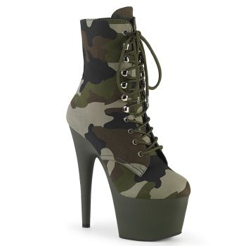 Platform Ankle Boots ADORE-1020CAMO - Camouflage