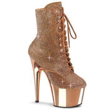 Platform Ankle Boots ADORE-1020CHRS - Rose Gold