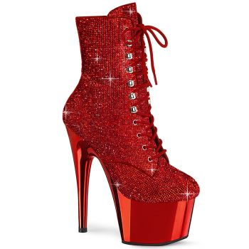 Platform Ankle Boots ADORE-1020CHRS - Red*