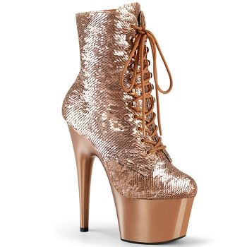 Platform Ankle Boots ADORE-1020SQ - Rose Gold