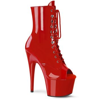 Platform Ankle Boots ADORE-1021 - Red Patent