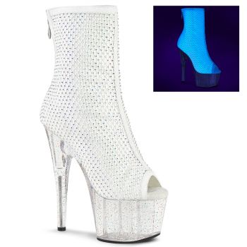 Platform Ankle Boots ADORE-1031GM - Fabric White
