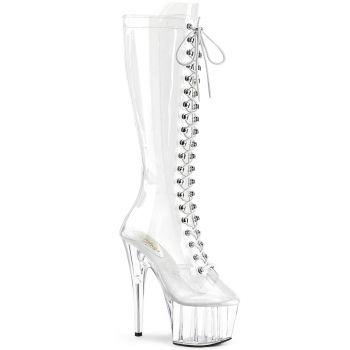Platform Knee Boots ADORE-2020C - Clear