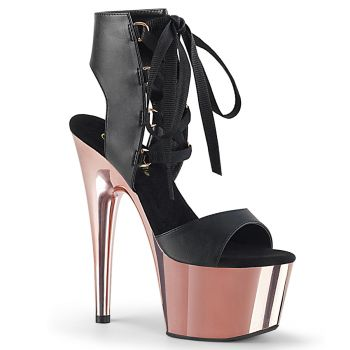 Platform High-Heeled Sandal ADORE-700-14 - Black/Rose Gold
