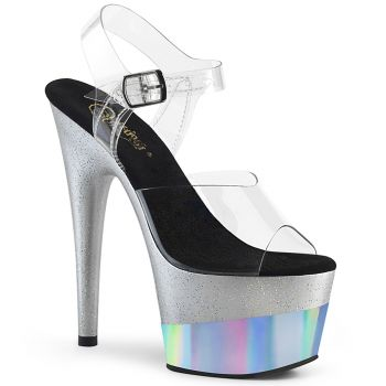 Platform High Heels ADORE-708-2HGM - Silver