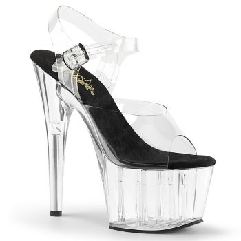 Platform High Heels ADORE-708 - Black/Clear