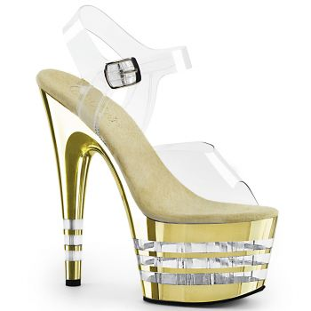Platform High Heels ADORE-708CHLN - Golden