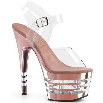 Platform High Heels ADORE-708CHLN - Rose Gold