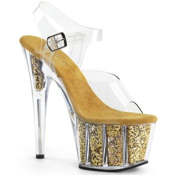 Platform High-Heeled Sandal ADORE-708G - Gold