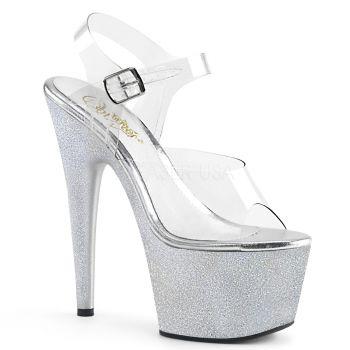 Platform High Heels ADORE-708HG - Silver