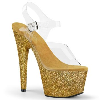 Platform High Heels ADORE-708HMG - Golden