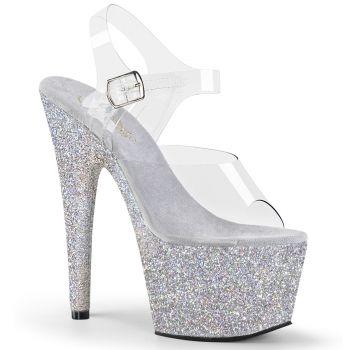 Platform High Heels ADORE-708HMG - Silver