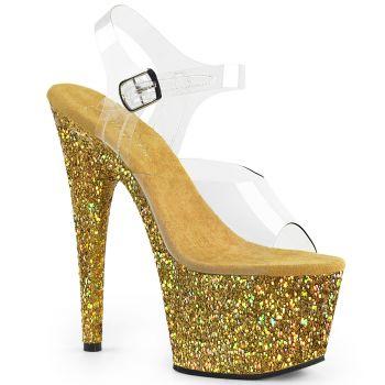 Platform High Heels ADORE-708LG - Gold