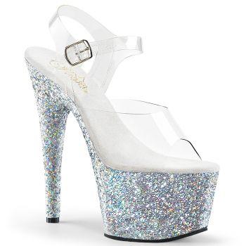 Platform High Heels ADORE-708LG - Silver