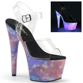 Platform High Heels ADORE-708REFL - Galaxy Clear*