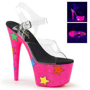 Platform High Heels ADORE-708UVGSTR - Neon Pink