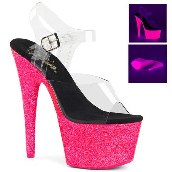 Platform High Heels ADORE-708UVG - Neon Pink
