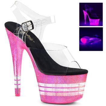 Platform High-Heeled Sandal ADORE-708UVLN - Neon Pink