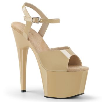 Platform High Heels ADORE-709 - Patent Cream